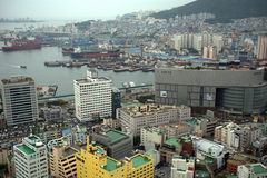 View from Busan Tower, Busan, Korean Republic Royalty Free Stock Images