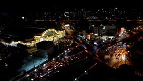 View of business area in Bangkok. Time lapse. View of business area in Bangkok, the most populated city in Southeast Asia, Thailand. Time lapse stock video footage