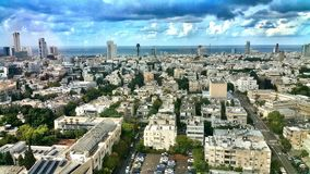 View of tel aviv buildings stock photos