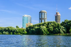 View of the business center Yekaterinburg-City Royalty Free Stock Photos