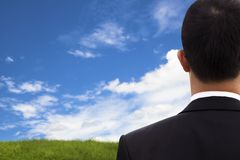 View of Businessman's back Royalty Free Stock Photography