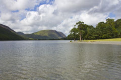 View of Buttermere. View of Lake Buttermere, English Lake District. Cumbria, England, UK stock photos