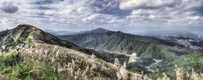 View from Buyanting, Jiufen Taiwan. On a cloudy day Royalty Free Stock Photography