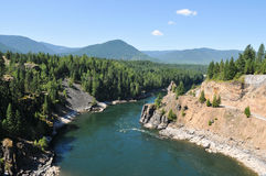 View from Cabinet Gorge Dam Idaho Royalty Free Stock Image