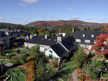 View on the cable car at Mont Tremblant. Quebec Stock Photos