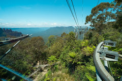 View from  the cable car at Scenic World in the Blue Mountains, Stock Photos