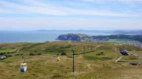 View of Cable car on top of the Great Orme Stock Photo