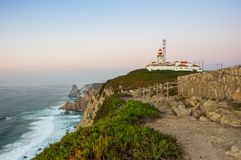 Cabo da Roca. View on Cabo da Roca Cape Roca, a cape which forms the westernmost extent of mainland Portugal and continental Europe Stock Photo
