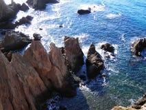 View at Cabo del Gata. Coastal scene at Cabo del Gata in Almeria province, Spain Stock Photo