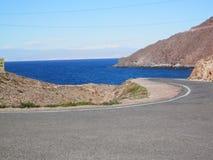 View at Cabo del Gata. Coastal scene at Cabo del Gata in Almeria province, Spain Royalty Free Stock Image