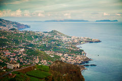 View from the Cabo Girao cliff Royalty Free Stock Photos