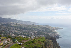 View from Cabo Girao in Madeira, Portugal Royalty Free Stock Photography