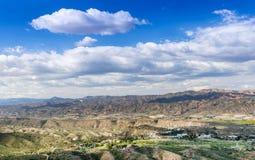 View from Cabrera towards Cortijo Grande Stock Image