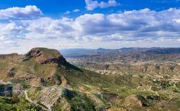 View from Cabrera towards Cortijo Grande Royalty Free Stock Image