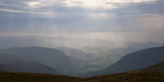 View from Cadair Idris in Wales Royalty Free Stock Images