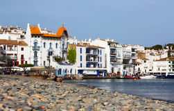 View of  Cadaques with Blue House (Casa Blava) Royalty Free Stock Photos
