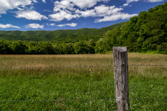 View from Cades Cove in Smnoky Mountains National Park, Tennesse Royalty Free Stock Image