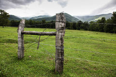 View from Cades Cove in Smoky Mountains Stock Photo