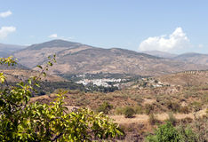 View of Cadiar village Stock Photography