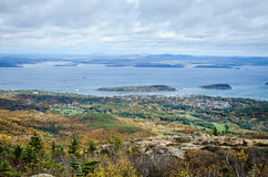 View from Cadillac Mountain Acadia National Park in Autumn Stock Photos