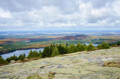 View from Cadillac Mountain Acadia National Park in Autumn Royalty Free Stock Photography