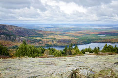 View from Cadillac Mountain Acadia National Park in Autumn Royalty Free Stock Image