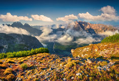 View of the Cadini di Misurina range from Monte Piana in Nationa Stock Photos
