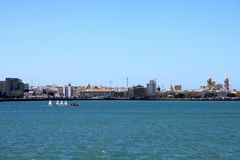 The view of Cadiz is one of the most ancient cities of Western Europe. Royalty Free Stock Image