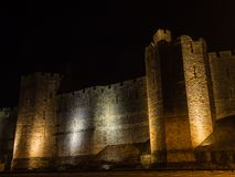 View on Caernarfon Castle at night Stock Photos