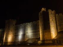 View on Caernarfon Castle at night Stock Photos