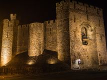 View on Caernarfon Castle at night Royalty Free Stock Photos
