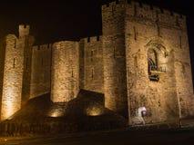 View on Caernarfon Castle at night Royalty Free Stock Photos