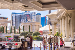 View from Caesars Palace front entrance Stock Image