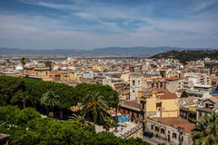 View at Cagliari, Sardinia from above royalty free stock photo
