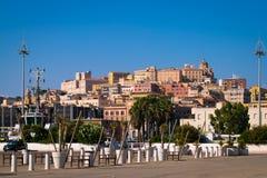 View of Cagliari, Sardinia, Italy. Stock Photos