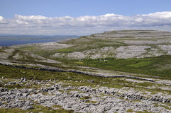 View of Caher Valley. Towards Black Head, The Burren Royalty Free Stock Image