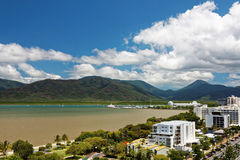 View of Cairns QLD. Aerial view of tropical Cairns city Royalty Free Stock Photography
