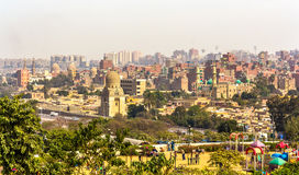 View of Cairo from Al-Azhar Park Stock Photos