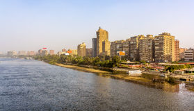 View of Cairo from the Al Munib Bridge Royalty Free Stock Photography