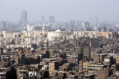The view from the Cairo Citadel (Citadel of Salah Al-Din) in Cairo, Egypt. Royalty Free Stock Photos