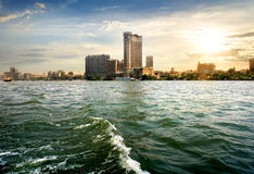View on Cairo. View on modern Cairo from the Nile royalty free stock photos