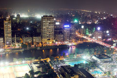 View of cairo night Royalty Free Stock Images