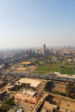 View of Cairo and Nile river Stock Photography