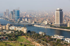 View of Cairo and Nile river Royalty Free Stock Photography