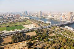 View of Cairo and Nile river Royalty Free Stock Photos