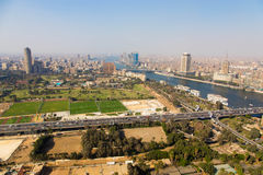 View of Cairo and Nile river Stock Image