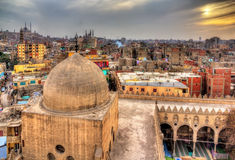 View of Cairo from roof of Amir al-Maridani mosque Royalty Free Stock Images