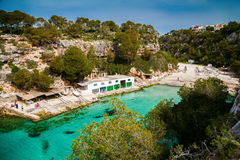 view of the Cala Pi beach Stock Image