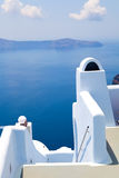View of the caldera in Santorini, Greece Stock Photo