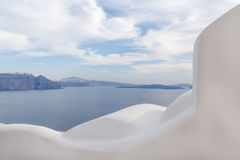 View on caldera of Santorini Royalty Free Stock Photo